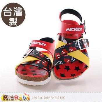 魔法Baby 童鞋 台灣製專櫃款迪士尼米奇正版童涼鞋~sh9645
