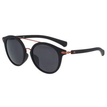 Calvin Klein- 時尚復古造型太陽眼鏡(黑色)