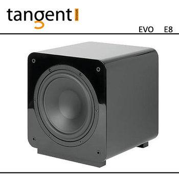 【Tangent】黑色鋼琴烤漆 密閉式 8吋重低音 EVO E8 sub