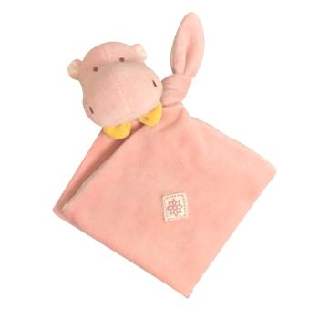 美國miYim有機棉安撫巾(喜寶河馬)