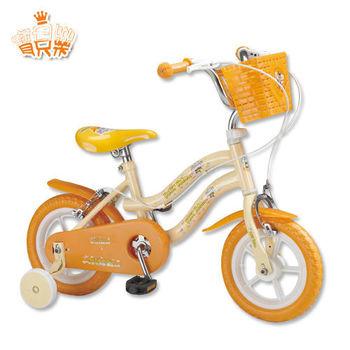 【寶貝樂】12吋小河馬兒童腳踏自行車(黃)