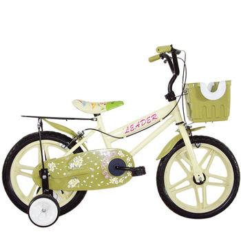 Adagio 16吋卡布奇諾打氣胎童車附置物籃-米色