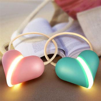 USB LED 情侶心鎖檯燈可調光折疊