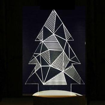 北歐3D立體 USB LED創意小夜燈-幾何聖誕
