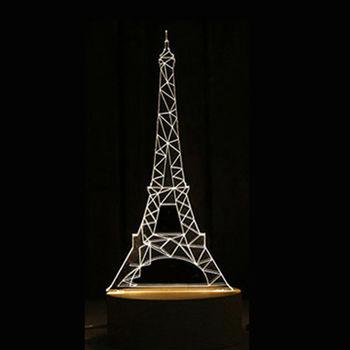 北歐3D立體 USB LED創意小夜燈-鐵塔