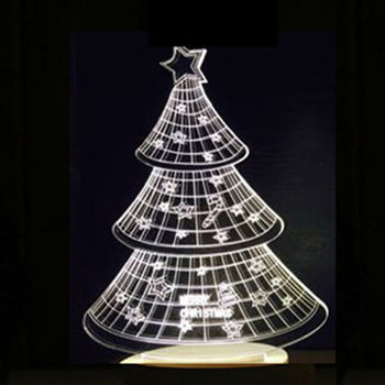 北歐3D立體 USB LED創意小夜燈-聖誕樹