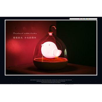 療癒系 觸碰好氛圍鳥籠燈 (溫暖粉紅光)