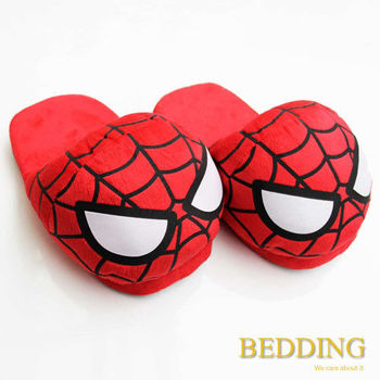 【BEDDING】復仇者聯盟 蜘蛛人 絨毛室內拖鞋