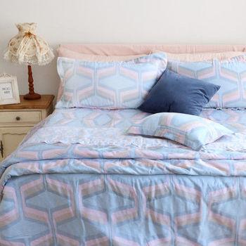 【R.Q.POLO】伊人風尚 天絲系列/雙人標準床包兩用被四件組(5X6.2尺)