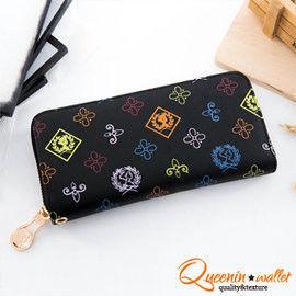 DF Queenin皮夾 - 法式浪漫女王風範單拉鍊長夾