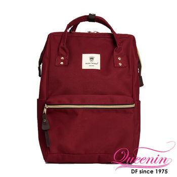 DF Queenin日韓 - 日本熱銷寬口大容量手提後背包-共8色