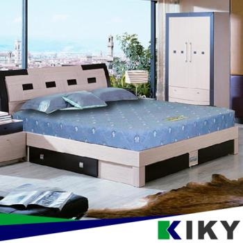 【KIKY】一代日式印花蓆面彈簧單人加大床墊3.5尺/彈簧床墊