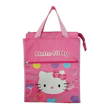 Hello Kitty直式補習袋-繽紛愛心