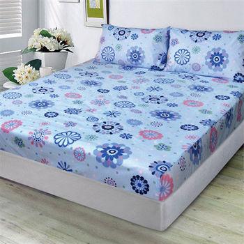 【Victoria】圓彩 防蟎雙人床包+枕套三件組