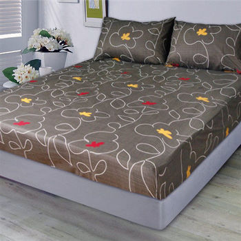 【Victoria】拼圖 防蟎雙人床包+枕套三件組