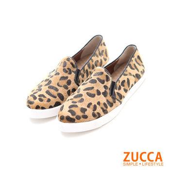 【ZUCCA】日系經典圖騰厚底休閒鞋Z5619CE-豹紋