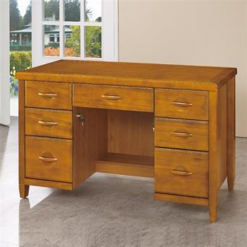 【顛覆設計】森杰4.2尺柚木色書桌/辦公桌