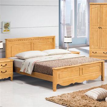【顛覆設計】格拉6尺雙人加大松木實木床架(兩色可選)