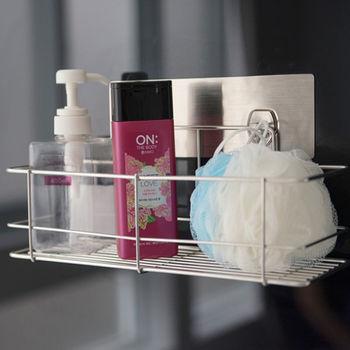 《舒適屋》髮絲紋無痕貼-304不鏽鋼沐浴罐架