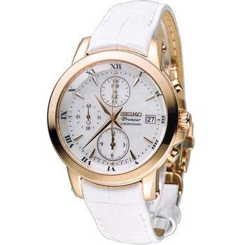 精工 SEIKO Premier羅馬情緣計時腕錶 7T92-0TG0P SNDV66J1