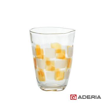 【ADERIA】日本進口格紋啤酒杯290ml(琥珀)