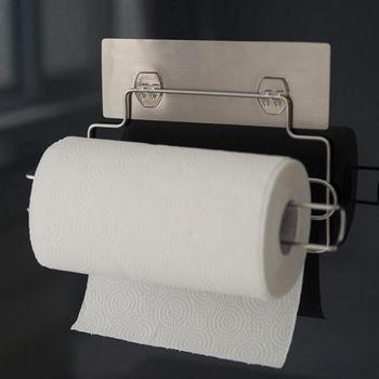 《舒適屋》髮絲紋無痕貼-304不鏽鋼捲筒紙巾架