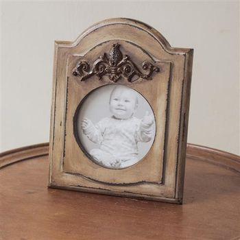 【ZARATA】創意家飾品-復古立體方型內圓照片相框