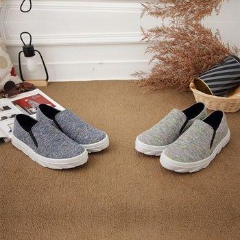 《DOOK》彩色雷射色系織面台灣製懶人休閒鞋-2色