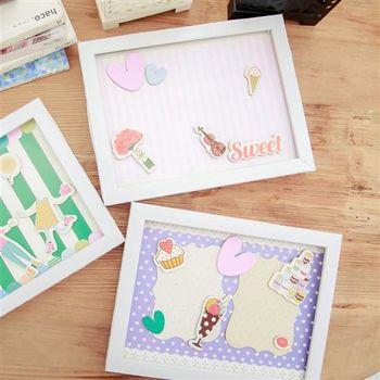 【ZARATA】韓國趣味立體貼紙手作DIY主題紀念相框_小