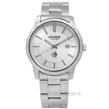 LICORNE 力抗 / LT102MWCI / entree 高貴尊王日期不鏽鋼腕錶 銀色 40mm