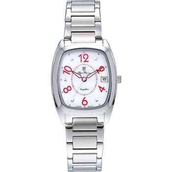 Olym Pianus 奧柏表 時尚佳人簡約流行石英腕錶-白/30mm 5666-1MS