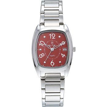 Olym Pianus 奧柏表 時尚佳人簡約流行石英腕錶-紅/30mm 5666-1MS