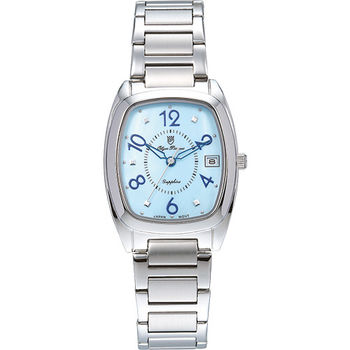 Olym Pianus 奧柏表 時尚佳人簡約流行石英腕錶-藍/30mm 5666-1MS