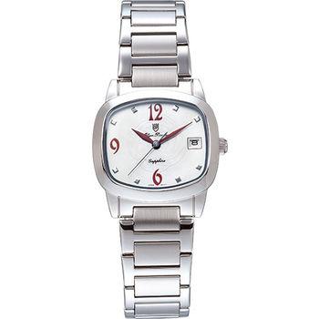 Olym Pianus 奧柏表 時尚佳人簡約流行石英腕錶-紅/30mm 5667-1MS