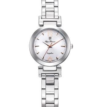 Olym Pianus 奧柏表 想樂份子流行簡約腕錶-白/24mm 5684LS
