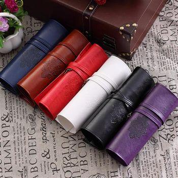 【ZARATA】暮光之城復古皮革卷式收納化妝筆袋