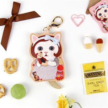 【ZARATA】甜蜜貓娃娃鑰匙零錢包_Gomi
