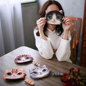 【ZARATA】萌萌噠喵星人可愛零錢收納包(2入)