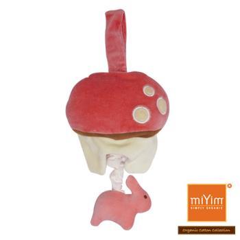 美國miYim有機棉 音樂拉鈴 (兔兔蘑菇)