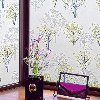 日本MEIWA節能抗UV靜電窗貼 (情懷森林) 46x100公分