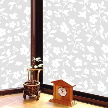 日本 MEIWA 節能抗UV靜電窗貼 (花卉小物) 92x1500公分