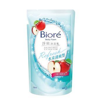 Biore蜜妮 淨嫩沐浴乳 活力清爽型 富士蘋果香 補充包700ml