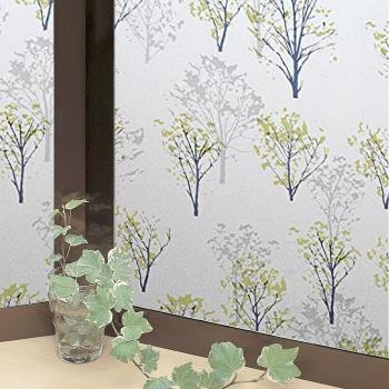 日本MEIWA節能抗UV靜電窗貼 (情懷森林) 92x500公分