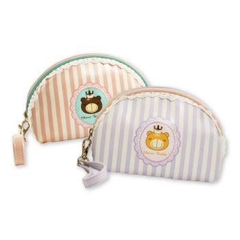 巧克力熊 公主彎形化妝包/盥洗包/收納包