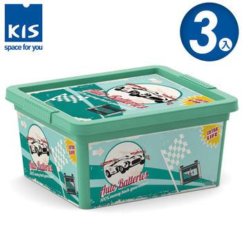 【義大利KIS創意收納】CBOX復古車系列收納箱(XXS) *3入