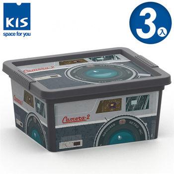 【義大利KIS創意收納】CBOX音響系列收納箱(XXS) *3入