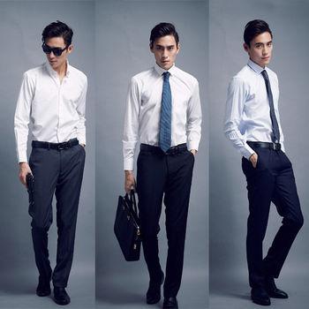 買一送一 【WELLCUT】歐洲精品剪裁修身西褲(送 藍色 )