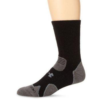 Under Armour 2016男時尚黑灰色重墊層靴羊毛襪子(預購)