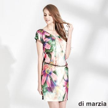 di marzia 雙面穿彩繪造型洋裝(黑)