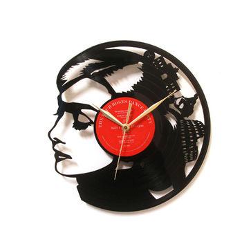 [時光旅人1888]黑膠時鐘。奧黛莉赫本-羅馬假期